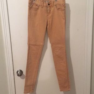 free people peach jeans
